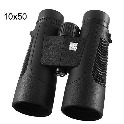 Portable 10X50 Binoculars Low Light Level Night Vision Waterproof Professional Binoculars Bak4 Prism Optics HD Zoom Telescope for Outdoor Hunting Concert,1050 ()