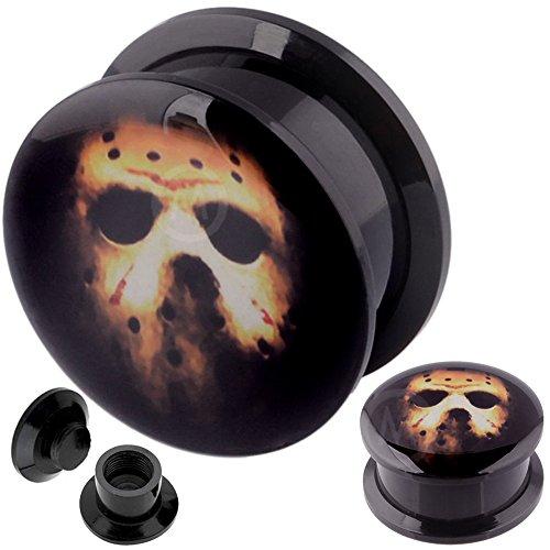 3/4 Inch gauges Ear Plugs Surgical Steel Flesh Tunnels Double Flare Expander Stretcher MoDTanOiz 20mm
