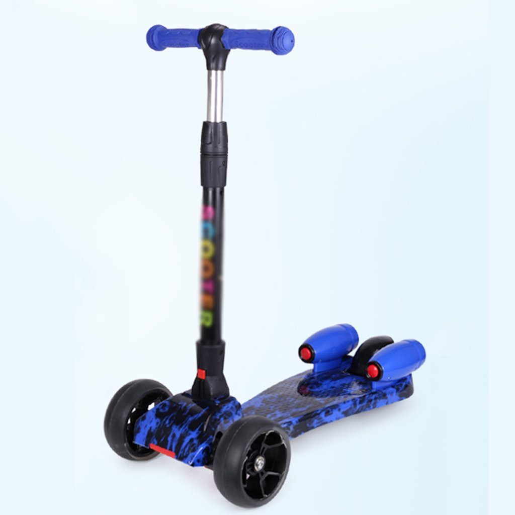 お手頃価格 スクーター子供の学生折り畳み自転車バイクトロリーリフトスイングカースプレーフラッシュホイール5-15歳(29.5** 62* 84センチメートル) 62 B07FRT312K* Blue Blue, IT Collection's:e3161ac7 --- a0267596.xsph.ru