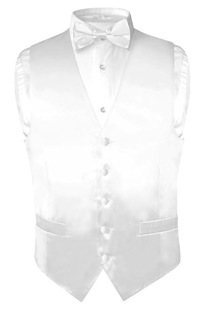 Amazon.com: Biagio Men Vestido de seda chaleco & Lazo Sólido ...