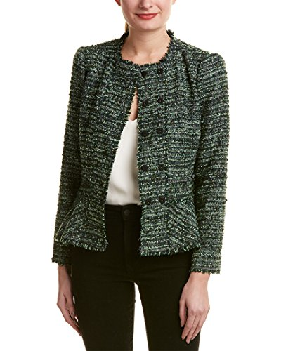 Rebecca Taylor Womens Boucle Wool-Blend Jacket, 6, Green