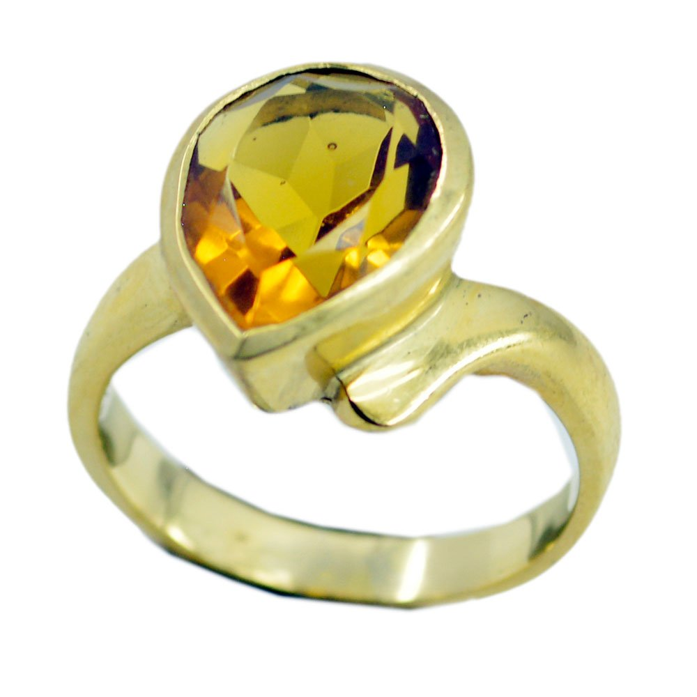 Jewelryonclick Citrine CZ Gold Plated Rings Her Astrology Birthstone Jewelry Size 5,6,7,8,9,10,11,12
