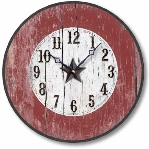 Fairy Freckles Studios Item C9011 Antique Style Western Clock (12 Inch Diameter)