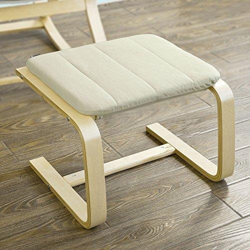 SoBuy® Hocker, Fußhocker zum Abstützen der Füße, Fußablage für Relaxsessel, FST38-W