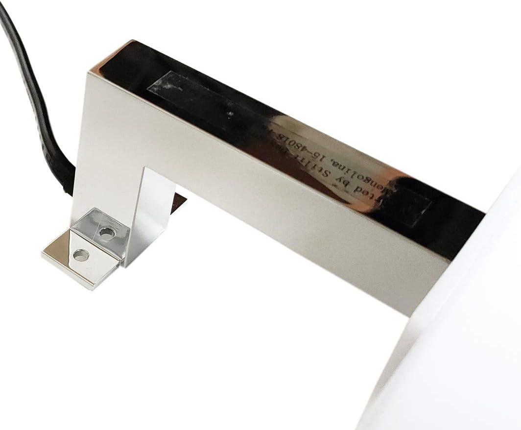 240LM non dimmerabile 4000K ABS CROMATO 220V Installazione a specchio o telaio 3W 20 CM Luce Calda IP44 Classe II Lampada da Specchio LED per Bagno ZEUS applique