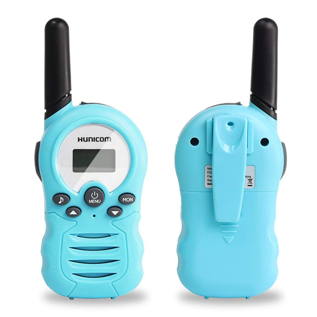 HM2 Portable Kid Walkie Talkie FRS/GMRS 462/467MHZ Two Way Radio, 2 Miles Range Handheld Interphone Camouflage, for Children's Educational Toys(2Pcs),E