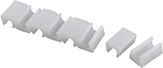 uxcell Plastic Chair Foot Floor Glides Tubing Caps Cover Protector 10mm Dia 8 Pcs White