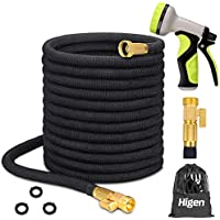 Higen 100ft Upgraded Expandable Garden Hose Set with 9 Spray Nozzle