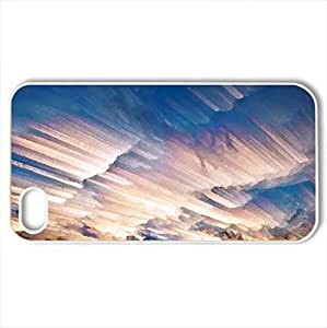 AWESOME - Case Cover for iPhone 4 and 4s (Sunsets Series, Watercolor style, White)