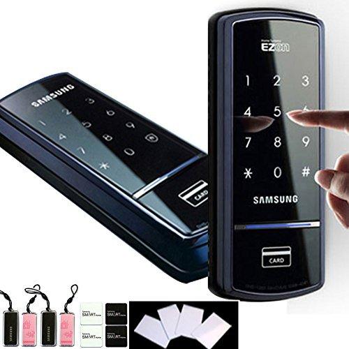 Samsung SHS-1321 Keyless Digital Touchscreen RIM Door Lock + 4 RFID tags + 4 RFID Sticky Keys + 4 RFID Cards