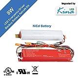 LED Emergency Lighting Driver Ballast by Kina LED - Backup Battery Pack Retrofit Kit, UL, Input: 120/277V, Output: 8W 12/48V, 90 Minute Back-up ($147 for 3PC)