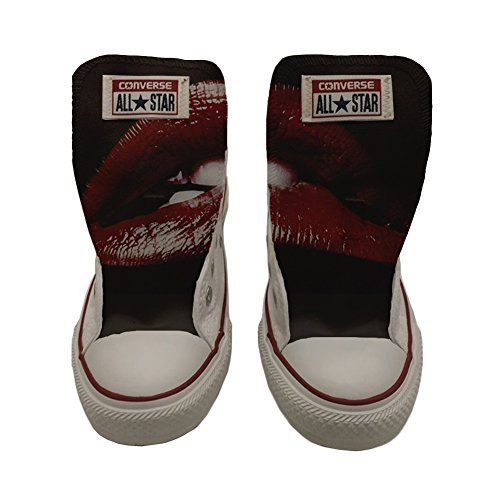 Converse All Star Customized - zapatos personalizados (Producto Artesano) Slim Lips Style