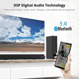 Sound Bar with Subwoofer for TV, BESTISAN 120W 2.1