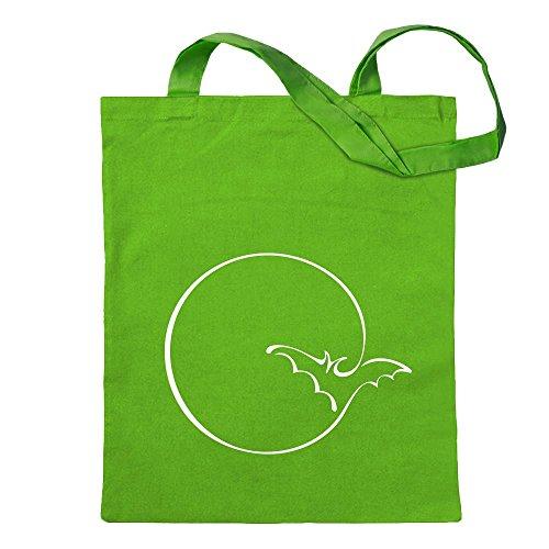 raccontano Borsa di borsa Luna Proverbi per pipistrello il stampati fitness di cotone manico lungo Borsa a iuta modelli appesa a un forma che fitness Verde Brillante con di di ExUUn8q