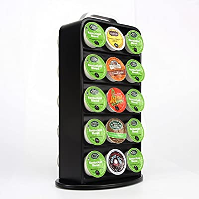 Coffee Capsule Stand,Revolving Coffee Pod Holder for K-Cup 30 Pods,Storage Rack 2color
