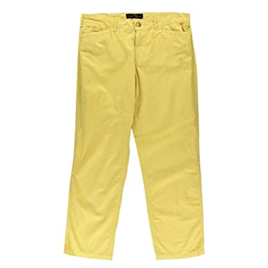 4c32341c802 Image Unavailable. Image not available for. Color: LRL Lauren Jeans Co. Women's  Yellow ...