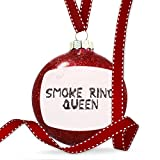 Christmas Decoration Smoke Ring Queen Coal Grill Fire Place Ornament
