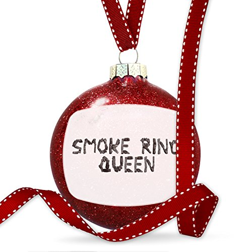 Christmas Decoration Smoke Ring Queen Coal Grill Fire Place Ornament by NEONBLOND