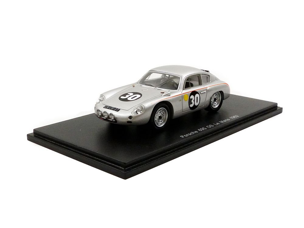 Spark Porsche 356B S1878Abarth-Le Mans 19621/43Scale, Silver