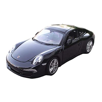 Model Car Sport Scale 1:24 Porsche 911 Carrera S Alloy Sports Car Model Boys Toys Display Black: Toys & Games