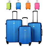 Luggage Set Newest Spinner Suitcase Carry On 20″ 24″ 28″ (Navy blue)