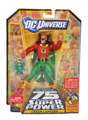 """DC Universe """"DC Comics 75 Years of Super Power"""" Wave 14 Classics Series 6 Inch Tall Action Figure #7 - GREEN LANTERN with Lantern and Ultra-Humanite's Right Leg Plus Collector Button (R5792)"""