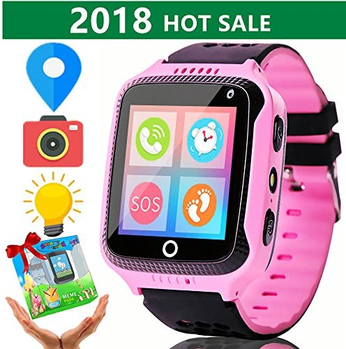 """[Sponsored] Smart Watch for Kids,ONMet 1.5"""" Touch GPS Tracker with SIM Calls Anti-lost SOS Sport Watch Kids Girls Boys Toys Summer Outdoor Vacation Holiday Birthday Watchphone for Android Smartphone"""
