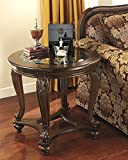 Norcastle Dark Brown Wood Round End Table