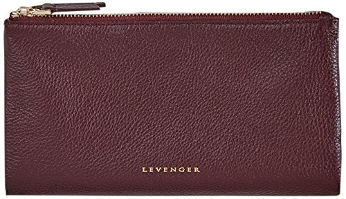 Levenger Carrie Cash and Card Leather Travel Clutch - Passport Wallet, Oxblood (AL14990 OXB)