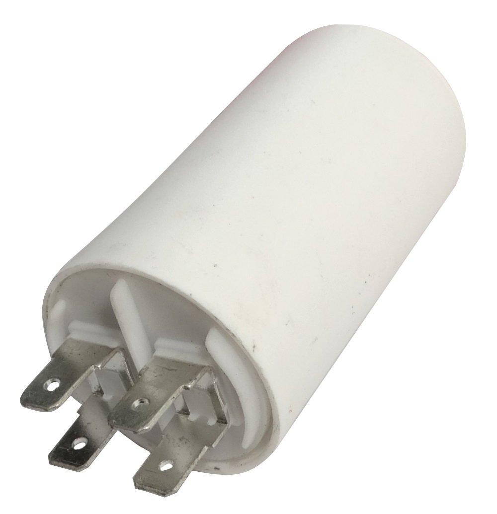 Aerzetix: Condensateur permanent de travail pour moteur 10µ F 450V avec cosses Ø 35x60mm ± 5% 3000h C18643 C18643-AL632