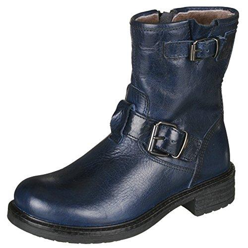 Momino 1411M Stiefel Boots Stiefeletten Mädchen/Damen Blau (50666 blu)