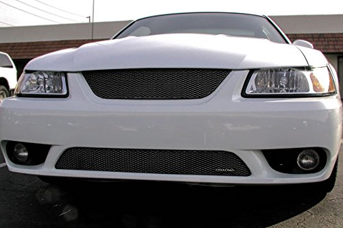 Grillcraft FOR5014B MX Series Black Lower 1pc Mesh Grill Grille Insert for Ford Mustang Cobra