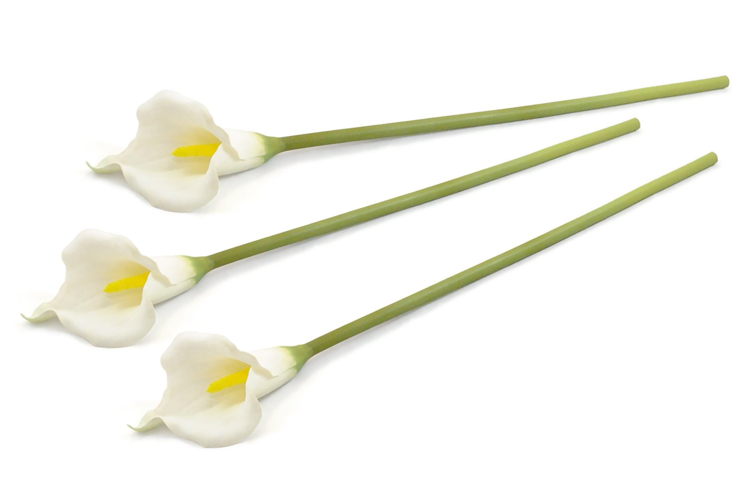 DII 3 Piece Artificial Cala Lily - Natural Silk Flowers For Bridal Bouquet, Home Decoration, DIY, Arts & Crafts Project, Garden, Office Decor, Centerpiece Décor - White by DII