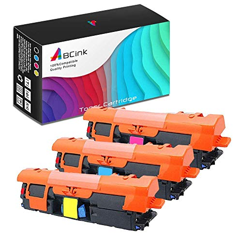 ABCink C9701A C9703A C9702A 121A Toner Compatible for HP Laserjet C9700A C9701A C9702A C9703A C9704A Color Laser Printer Toner Cartridge,3 Pack(1 Cyan,1 Yellow,1 Magenta)