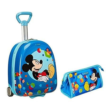 Samsonite Mickey espectro equipaje juego – Vertical 45 cm maleta y Kit de aseo –