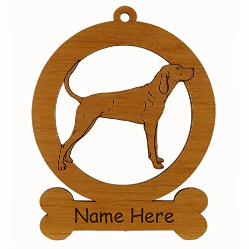 Redbone Coonhound Standing Dog Ornament 083812 Personalized With Your Dog's Name