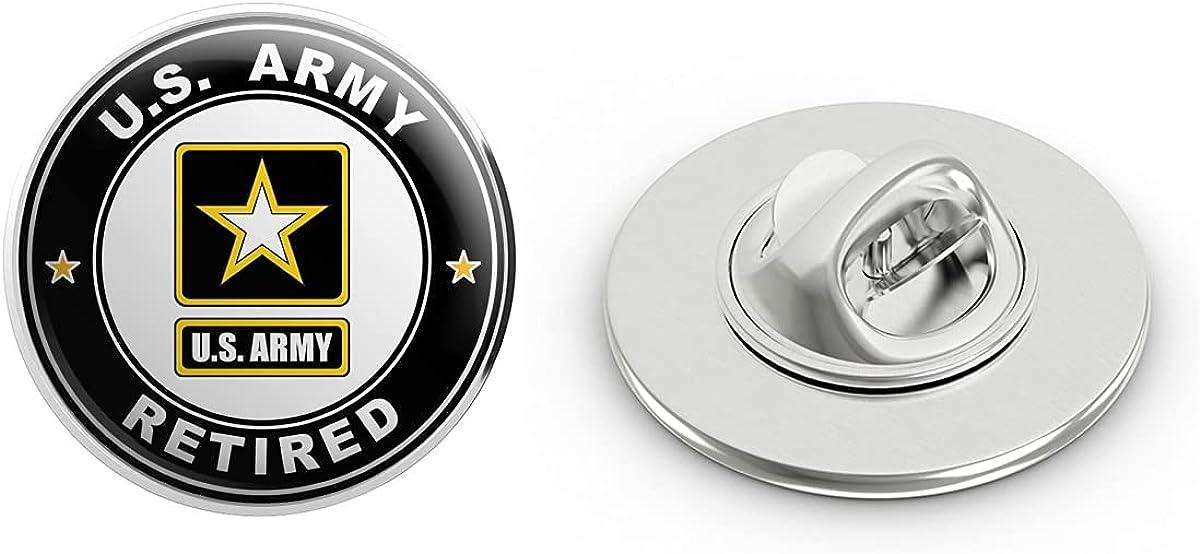 "Veteran Pins US Army Retired Metal 0.75"" Lapel Hat Pin Tie Tack Pinback"