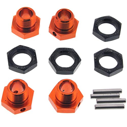 HPI 1/8 Trophy Buggy 3.5 * 17mm ALUMINUM WHEEL HEXES, HEX NUTS & SHAFT PINS ()