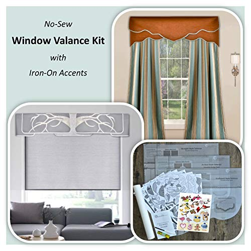 Traceable Designer DIY Valance Kit. Easy-to-Use No-Sew Valance ()