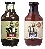 G Hughes Smokehouse Sugar Free BBQ Sauce, Hickory, 18 & SF Original 18 oz (Pack of 2)