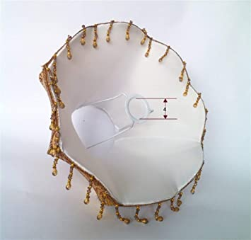 Size : 30cm la Lampe Abat-Jour en Tissu Con/çu Diam/ètre Bas NIAI Traditionnellement