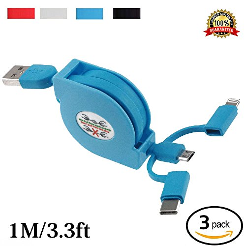 Retractable Charger Lightning Charging Universal