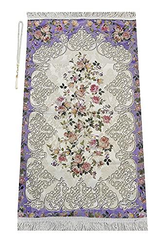 Muslim Prayer Rug with Prayer Beads | Janamaz | Sajadah | Soft Islamic Prayer Rug | Islamic Gifts | Prayer Carpet Mat…