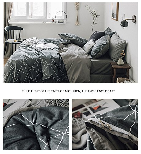 HIGHBUY Geometric Bedding Sets Duvet Cover Sets
