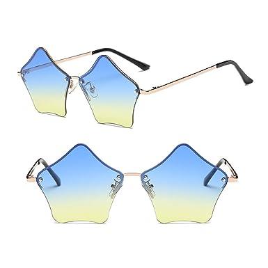 ZEVONDA Forme d'étoile à la mode Design Non-polarisé Femmes Rétro lunettes de soleil M7rWMcH1m