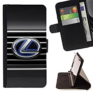 For Samsung Galaxy S4 Mini i9190 Lexus L LS Beautiful Print Wallet Leather Case Cover With Credit Card Slots And Stand Function