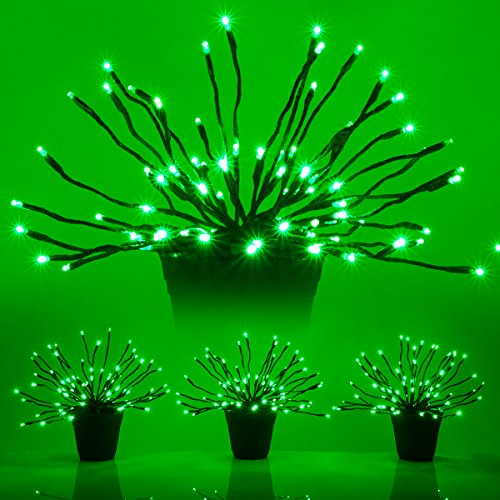Wintergreen Lighting LED Starburst 5mm Light Balls - Lighted Branches - Halloween Decorations (15