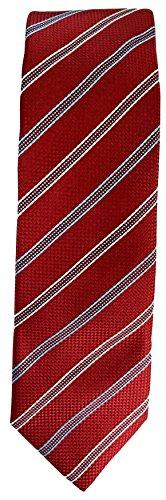 Hugo Boss Hugo Mens Solid Red With Stripes Pattern 100% Silk Tie (50274034 603) by Brand: Boss Hugo Boss