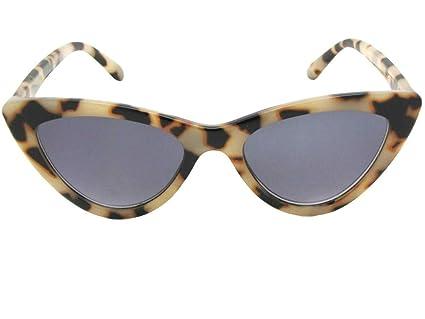 70ed921a08db Amazon.com: Classic Cat Eye Reading Sunglasses for Women Style R93 (Black  Frame Gray Lenses, 1.25): Clothing