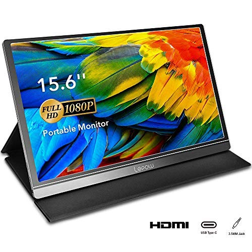 Portable Monitor - Lepow 15.6 Inch Computer Display 1920×1080 Full HD IPS Screen USB C Gaming Monitor with Type-C Mini HDMI for Laptop PC MAC Phone Xbox PS4, Include Smart Cover & Screen Protector (Best Portable Monitor For Ps4)